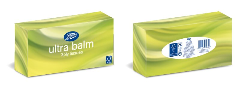 Retail Packaging Design - Boots Ultra Balm Tissues