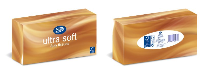 Retail Packaging Design - Boots Ultra Soft Tissues